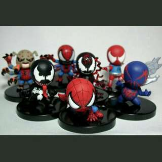 Yujin SD Cute Spiderman Trading Figures