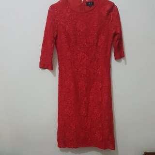 Dress Brokat Red