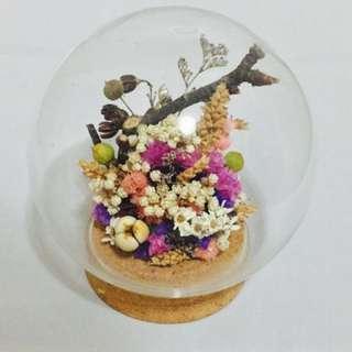 玻璃球乾燥花