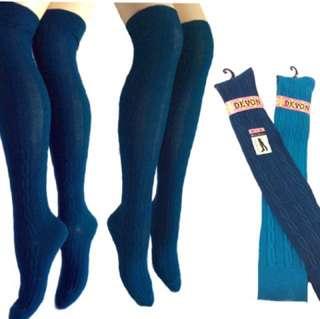 [火力全開888]#麻花編織羅紋膝上襪- 時尚美型潮流款膝上襪