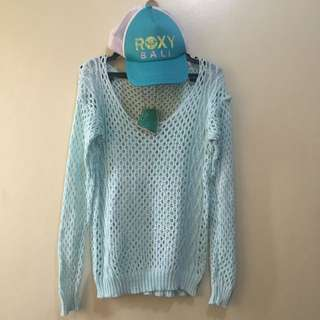 Baby Blue Cable Knitt Sweater