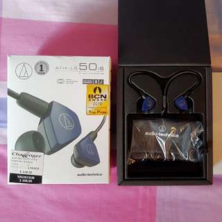 Audio Technica ATH-LS50is used once Navy Blue