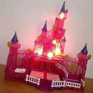 Polly pocket 粉紅城堡 芭莉口袋 無人偶 品項完好 燈效正常 灰姑娘城堡 含運
