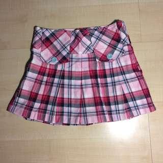Short Checkered Skirt