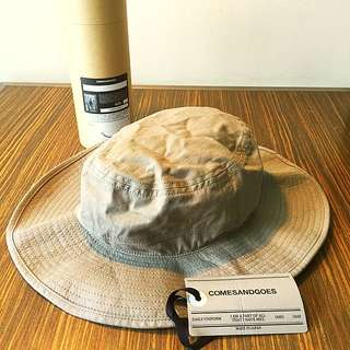 COMESANDGOES Packable Bucket Hat Grey Beige Size L Made in Japan