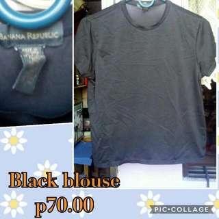 Black Satin Blouse