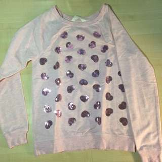 H&m Pink Hearts Sweater
