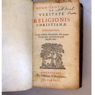 Antique - 1680 - Hugo Grotius - De Veritate Religionis Christianae