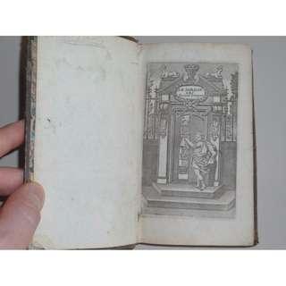 Antique – Book - 1716 - Le jardin des racines greques mises en vers francois GREEK Jean Racine