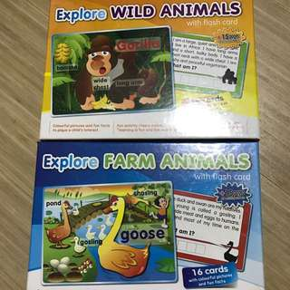 Explore Wild Animals And Farm Animals Picture Cards