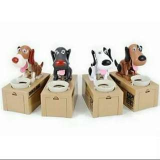 Dog Coin Savings Box Bank