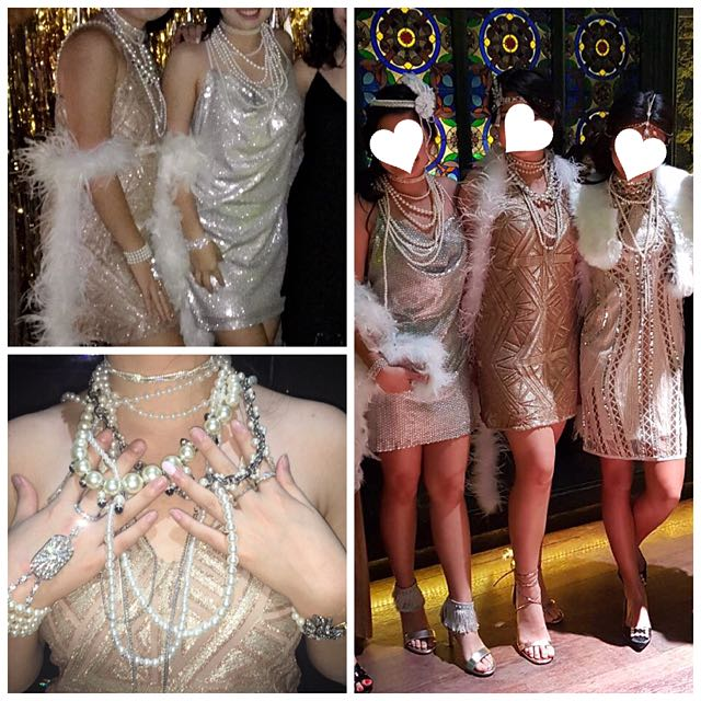 1920 Gatsby Jewelry & Headpieces, Pearls And Diamonds