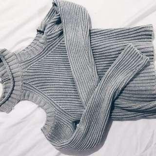 Grey Knit - Mink S/m