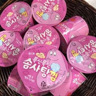 韓國 Barbapapa泡泡先生棉花糖口香糖 熱賣 人氣商品 粉紅色