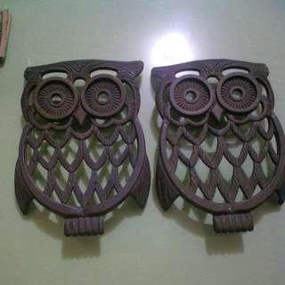 Antique Brass Owl
