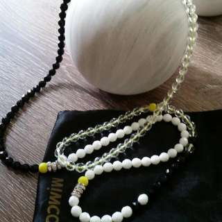 Mimco New No Tag Yellow String Necklace