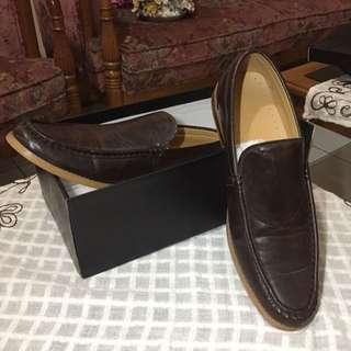 Faux leather Pantofel - Dark brown / Coklat tua