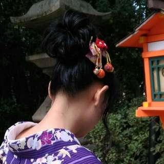和風蝴蝶結髮飾