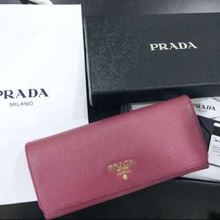 Urgent Sale : Prada Saffiano Long Metal Wallet