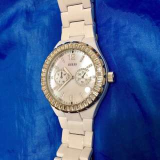 Authentic Guess watch with Swarovski Crystals