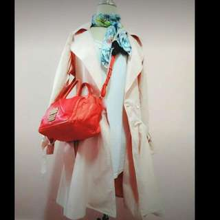 Authentic Jill Stuart Trench Coat In Peach