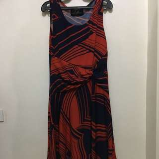 LOFT925 Red And Blue Dress