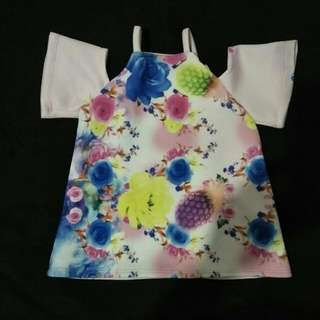 Off Shoulder Top For Kids