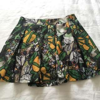 Printed Skirts With Shorts