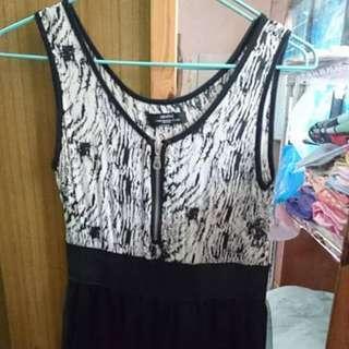 斑馬紋裙 #100元洋裝