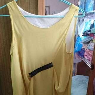 黃色兩穿式洋裝#100元洋裝