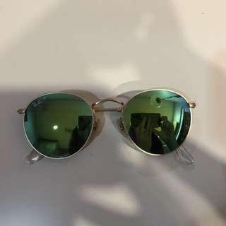 Rayban Round Sunglasses (Blue)