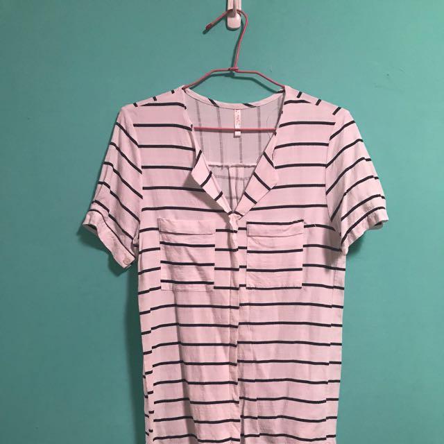 橫條紋襯衫
