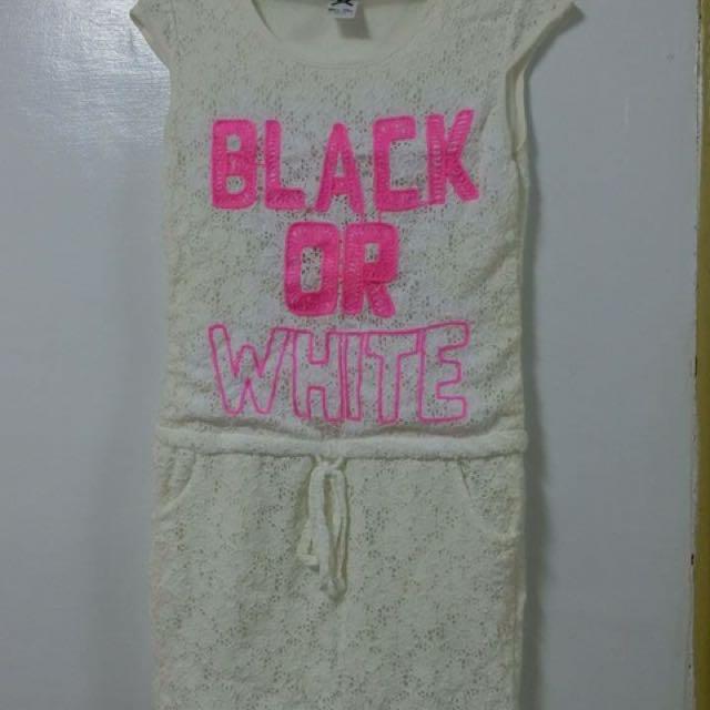 蕾絲白洋裝