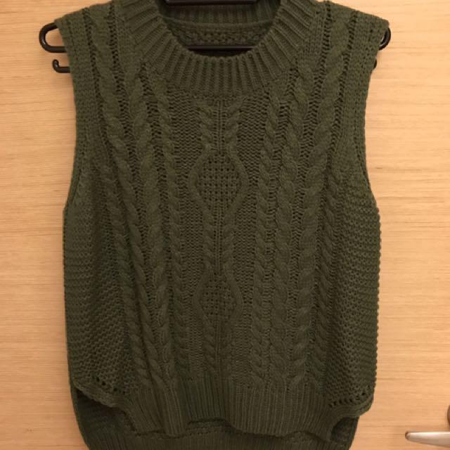 🌻綠色針織背心