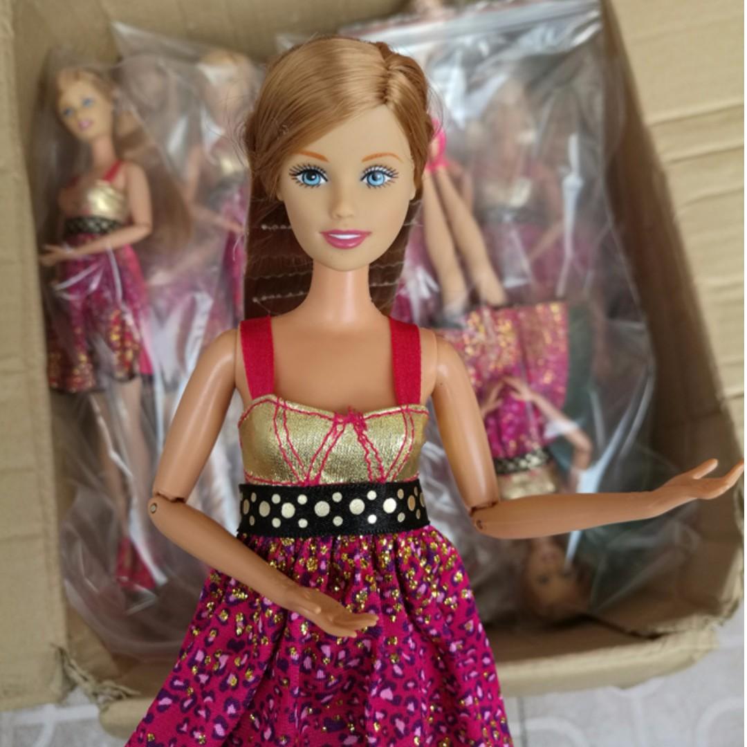 正版散裝特惠價正版芭比娃娃蛋糕芭比蛋糕娃娃實心耐玩