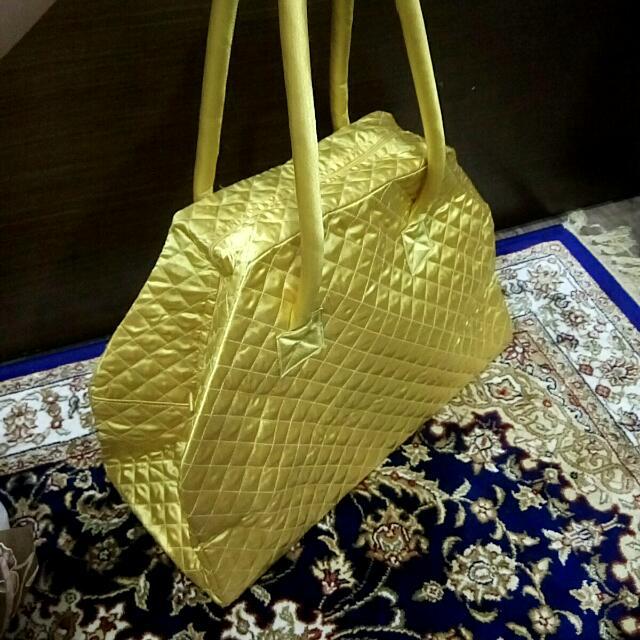 正品NARAYA經典曼谷包 金黃色 大容量精品包