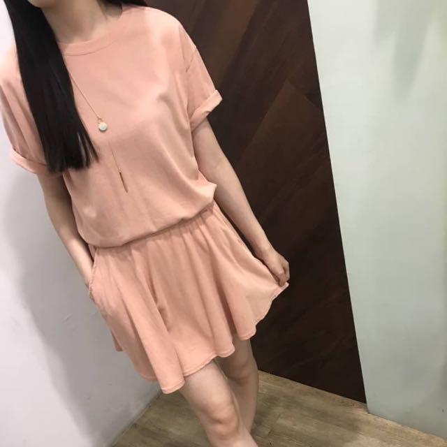 限量特價-正韓兩件式套裝 粉膚色