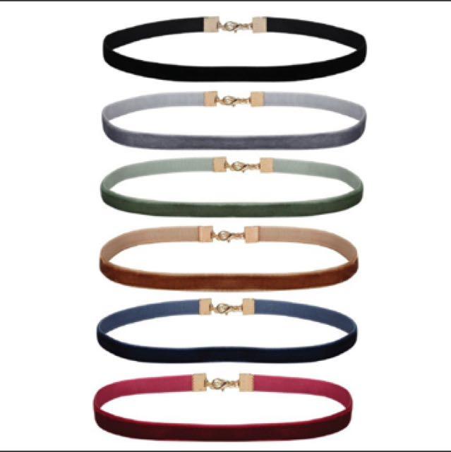天鵝絨 頸鏈 項鍊