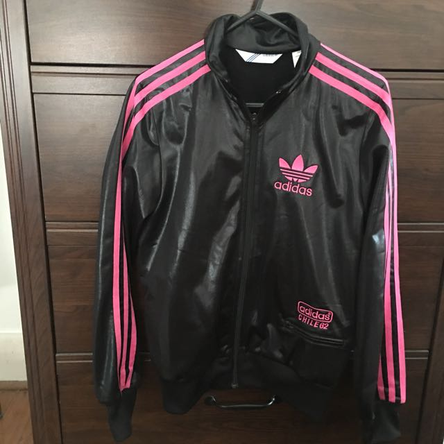 Adidas Pink And Black Zip Jacket