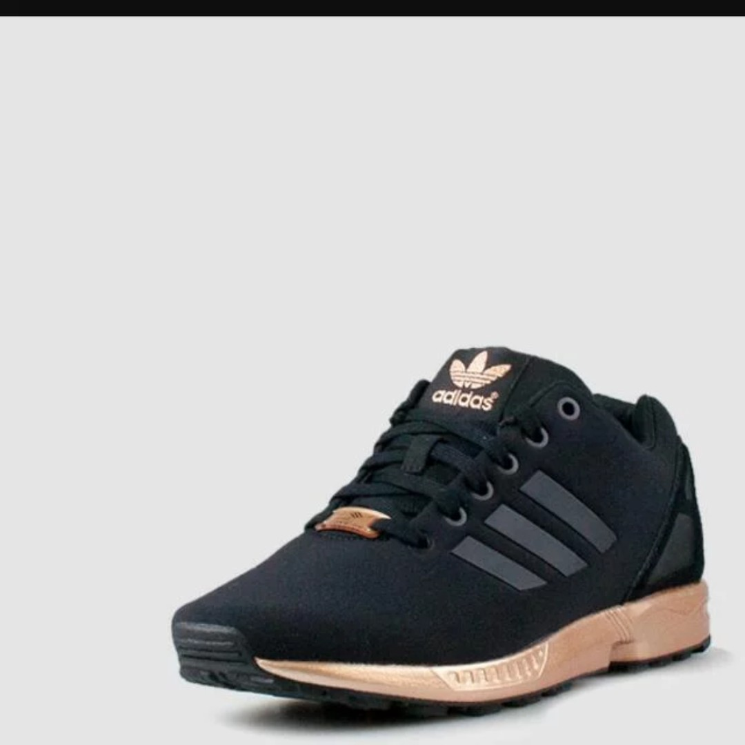2b4215c4a4f0 ... sweden adidas zx flux black copper gold womens fashion shoes on  carousell b93c6 1ddd2