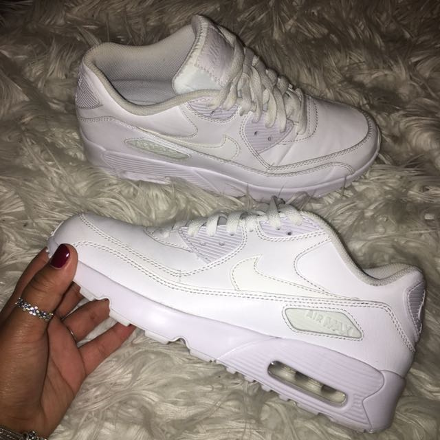 Air Max 90s White Leather