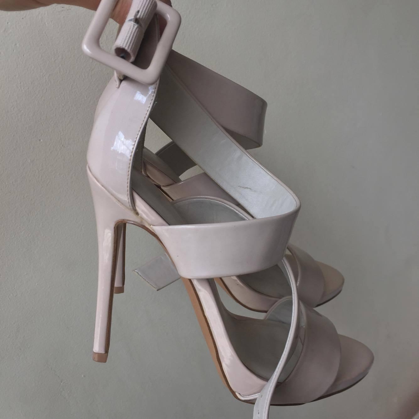 RUSH!!!! ALDO beige high heels with strap