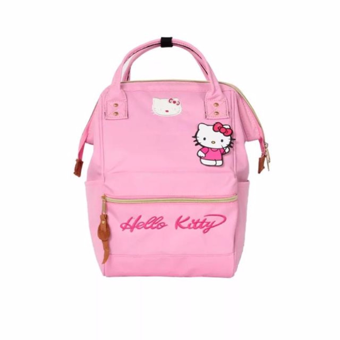 Anello Inspired Hello Kitty Backpack  Black   Pink 50298a06a0d44