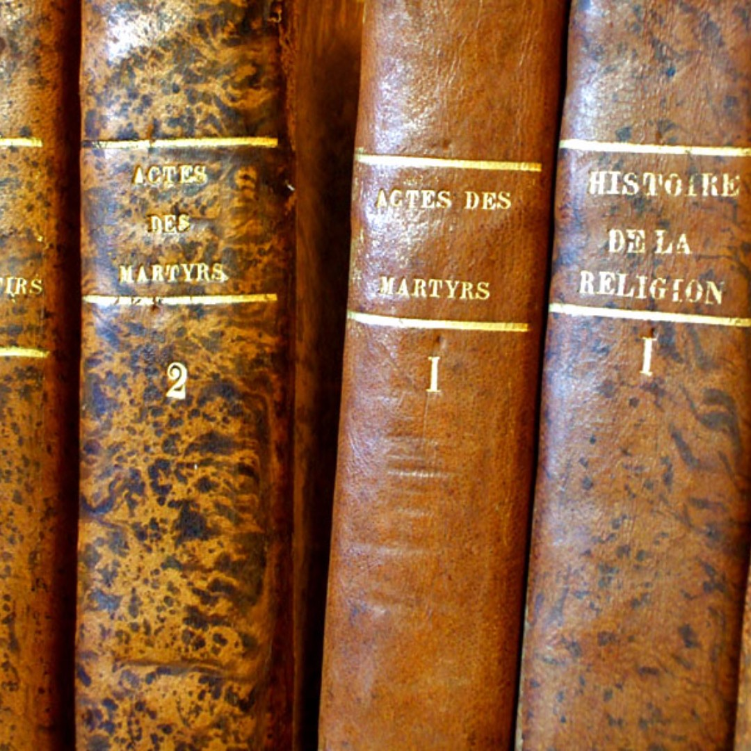 Antique – Books – Complete Sets - 1825 - Actes des Martyrs & Histoire de la Religion by Thierry Ruinart & Lhomond