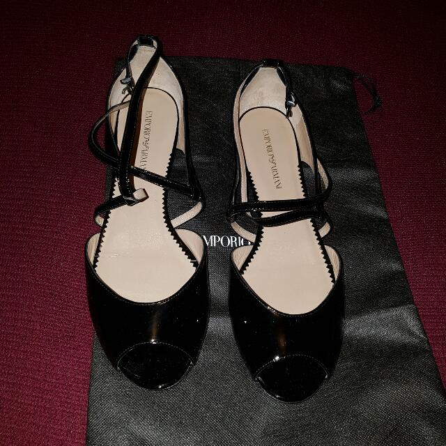 Armani Peep Toe Shoes Size 39