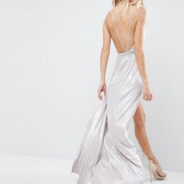 ASOS Slinky Lame Maxi Dress