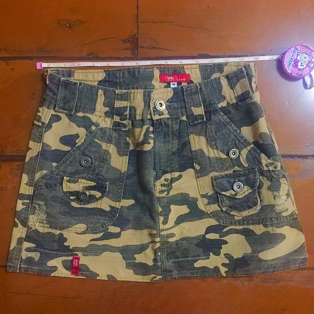 Authentic Esprit Camou Mini Skirt
