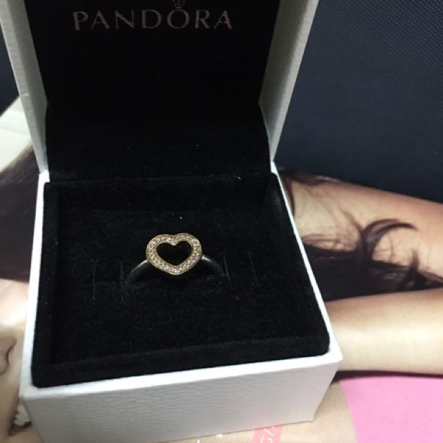 Authentic Pandora Symbol of Love Ring S50