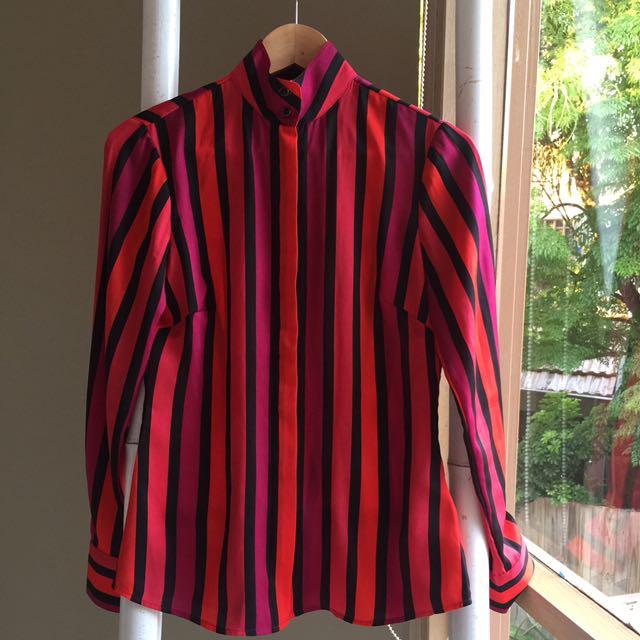 Banana Republic Striped Shirt Sz 00 XS 6
