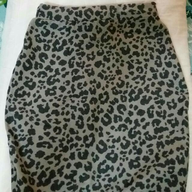 Bandage Cheetah Skirt
